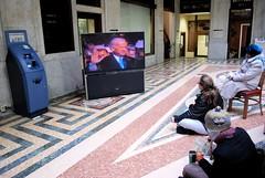 VP Biden (whitneyarlene) Tags: television tv buffalo downtown inauguration flatscreen barackobama buffalonewyork joebiden ellicottsquarebuilding presidentbarackobama obamania 44thpresident goodbyebush watchingtheinauguration