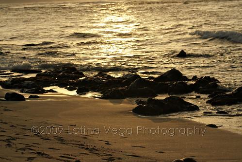 Turtle beach at sunset