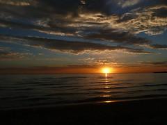 beach trip sunset