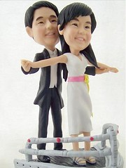 romanticTitanic (clay figurines) Tags: wedding cake toppers