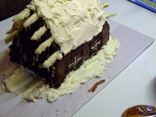 chocolate log cabin 35