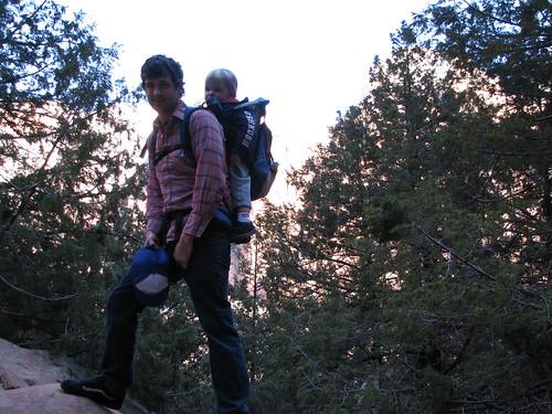 atop a rock