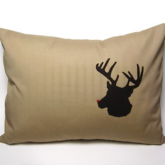 #299 - Rudolph Throw Pillow