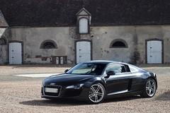 Audi R8 V8. (Spot-R28 | Autospotters) Tags: auto cars sport canon de eos photoshoot shooting audi tamron et allemagne v8 automobiles voitures eure r8 noire loir prestige 70300 500d bilora sportives worldcars