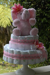 Pretty in Pink Elephant Diaper Cake (Diaper Design by Adrienne) Tags: babyshower diapercake babyshowercake elephantcake nappycake pinkbabyshower pinkdiapercake babygirldiapercake designerdiapercake diaperdesignbyadrienne boutiquebabyshower beautifuldiapercakes babyshowerelephant