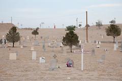 Mt. Calvary Cemetery (metroblossom) Tags: trees newmexico dusty cemetery grave cross dusk rip crosses albuquerque dry graves dust e1 restinpeace mtcalvarycemetery img1846