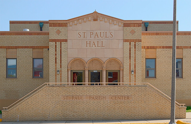 Saint Paul Roman Catholic Church, in Highland, Illinois, USA - parish hall