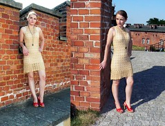 Gold crochet dress inspired by Diane von Furstenberg. (mala100gosia) Tags: dress crochet dianevonfurstenberg sukienka szydeko