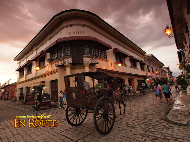 Vigan is beautiful with its gentle night glow towards dusk