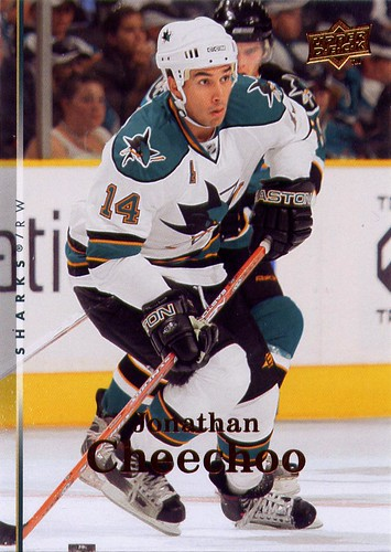 Jonathan Cheechoo, San Jose Sharks, 07-08 Upper Deck, Series 2 two, hockey, hockey cards
