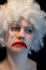 FDF - Sad clown (Mrs Brownhorse / Baby Brownhorse) Tags: sad clown crying makeup wig supershot mrsbrownhorse