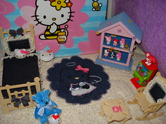MINI KITTYROOM 3 (updated) (PinkWorld) Tags: pink cute miniature furniture hellokitty mini sanrio kawaii dollhouse mymelody hellokittydollhouse