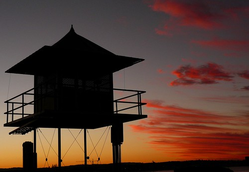 Sunset Lifeguard tower