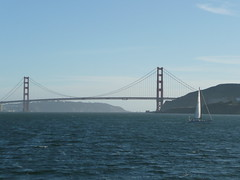 Golden Gate Bridge from Sausalito-Ferry Building ferry