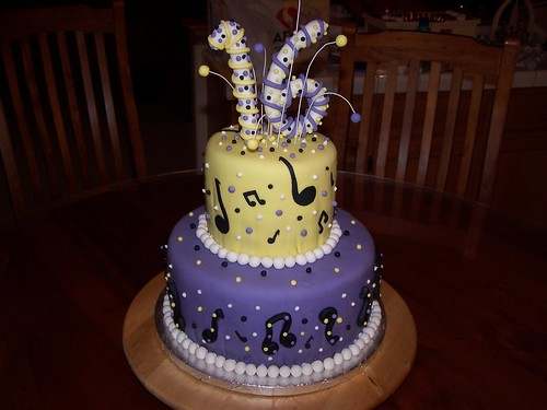16th birthday music cake