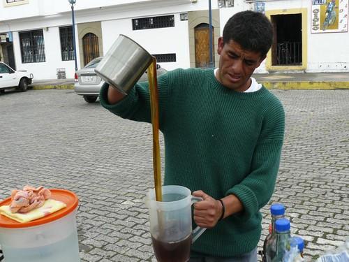 aloe vera being prepared