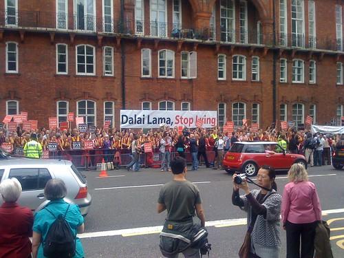 Dalai Lama protestors