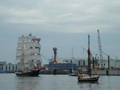 Sailing Ship (crystalseas) Tags: water germany geotagged boat harbour crane windjammer kiel fullsail sailingship sailingboat kielerwoche crystalseas
