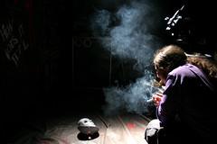 (emaflickrindaaus) Tags: set video smoke filming makingof fumo maschere troupe daylightseventimes