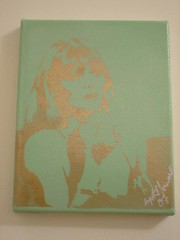 Michelle Pfeiffer in Scarface (Crystal Townsend) Tags: art painting stencil grafitti michelle pop pfeiffer cocaine scarface