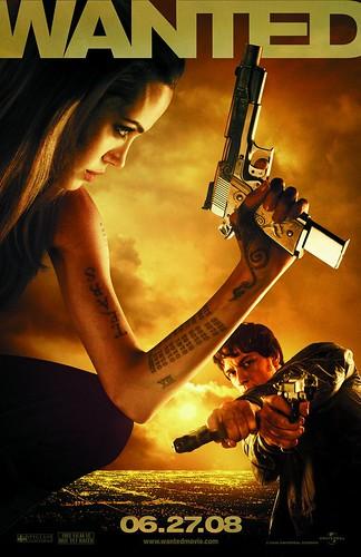 Colección de pósters y dos trailers de 'Wanted': Angelina Jolie sigue pegando tiros