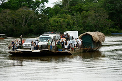 the ferry across the river