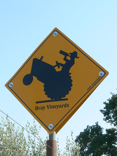 Beware of tipsy grape growers doing wheelies