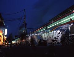Nakano at dusk (F_blue) Tags: tokyo 645 nakano fujichrome provia100f  etrs rdpiii zenzabronica zenzanonpe5028 fblue2008