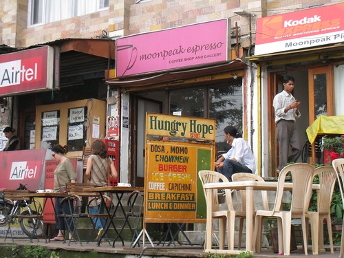 Moonpeak Expresso, one of McLeod Ganj's upscale cafes