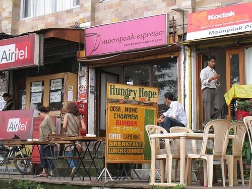 Moonpeak Expresso, one of McLeod Ganj's upscale cafes