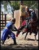 Black Knight vs Blue Knight (tinyfroglet) Tags: knight faire renaissance galope blueribbonwinner folkclore