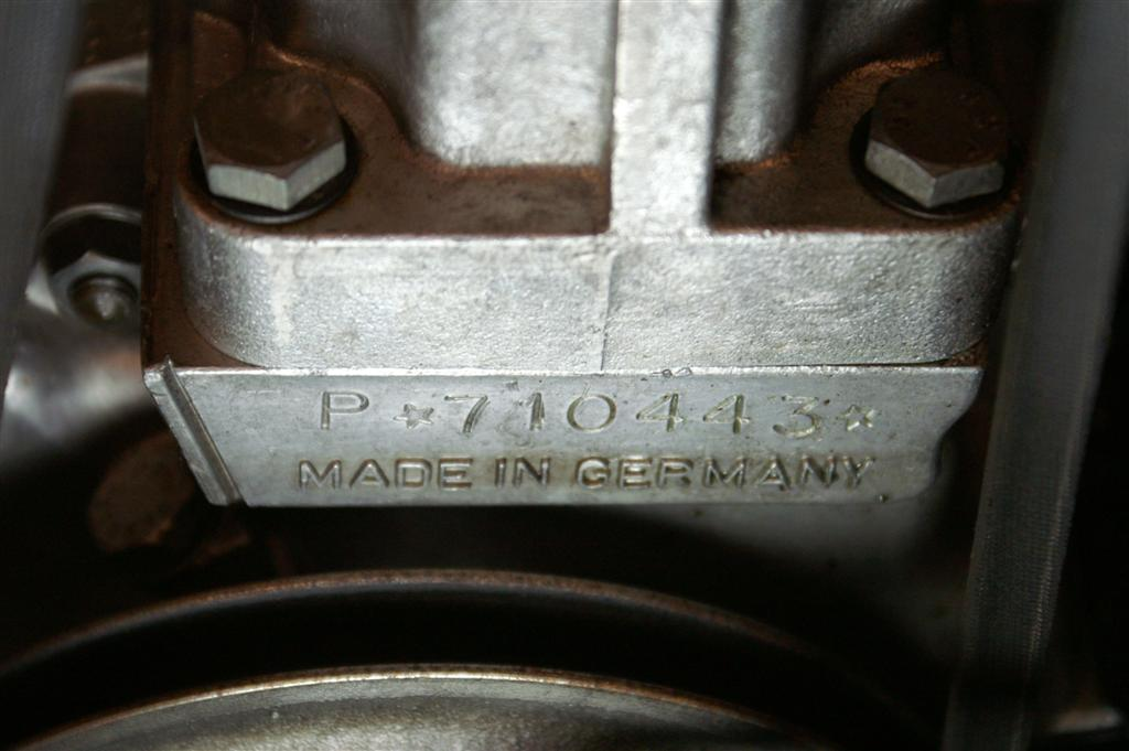 Porsche 356 engine number
