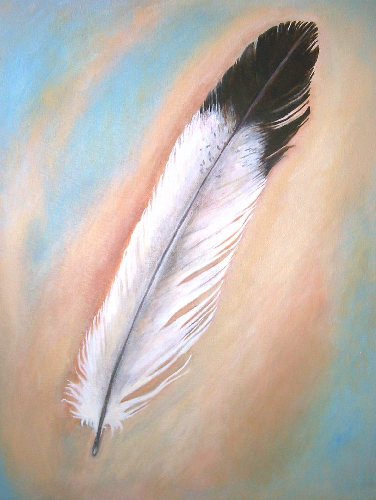 Feather - Original Painting on Canvas 16 x 20
