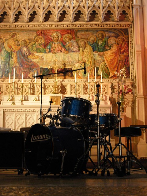 Last supper mosaic with drums