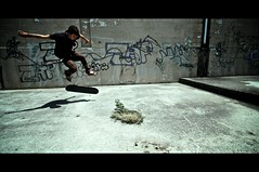 (Kevin Sweeney Photography) Tags: shadow canon graffiti angle widescreen wide flip skate skateboard cape letterbox trick cod vignette 1022mm 40d