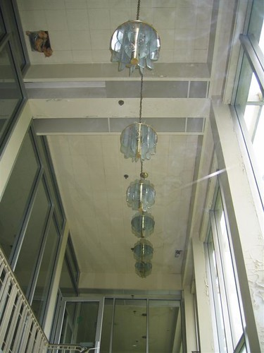 Chandeliers in the lobby