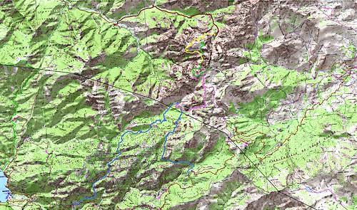 Carte raid Ota - Barghjana du 30/06 au 04/07/2008