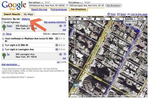 Google Maps piétons