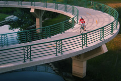 Starkweather Creek Bike Path Bridge Over East Washington