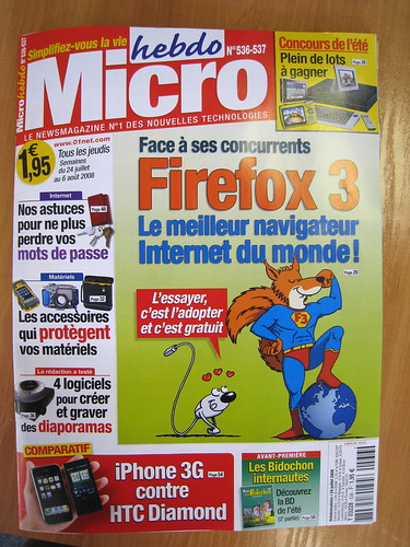 MicroHebdo cover: Firefox 3, the best browser of the world!
