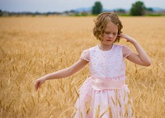 Gold Field (jjohnsen) Tags: pink girl field sister wheat a1f1