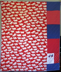 hippo quilt back