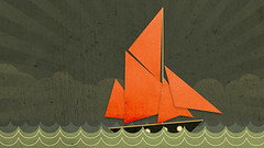 Sail (sketchy pictures) Tags: ocean sea water illustration boat sail