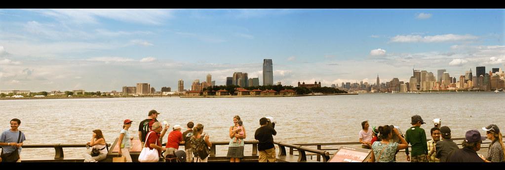 Liberty Island shooting NYC Panorama