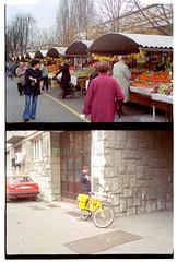 400uc0030 (ketou-daisuki) Tags: travel bicycle fruit canon europa market kodak slovenia ljubljana 400uc marche halfsize ljubljanica ultracolor slovenja demiee17 colornegativefilm