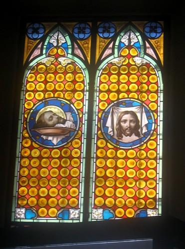 Église de: San Silvestro a Rome, vitraux dans images sacrée