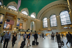 Grand Central Station, New York city (amycicconi) Tags: newyorkcity travel urban newyork architecture train subway photo chaos publictransportation crowd americanflag landmark tourist architectural historic lobby busy trainstation rush transit grandcentralstation d200 subwaystation onthemove concourse crowded traveler businesstravel railroadstation nikond200 businesstraveler peopletraveling amystrycula strycula astrycula
