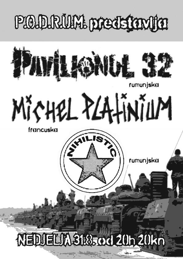 hardcore hard core metal koncert rijeka podrum Pavilionul32 Nihilistic Michael Platinium molekula info shop škatula