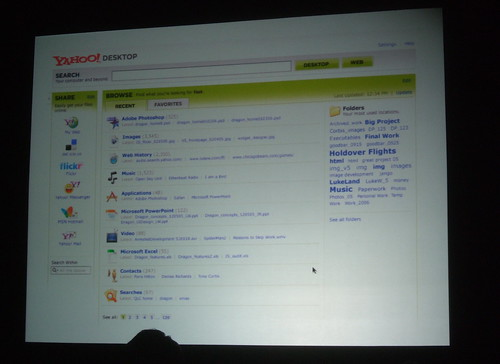 Yahoo! Desktop screenshot