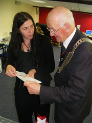 Nina with the Mayor of Buncrana (sean and nina) Tags: ireland girls people irish male men love boyfriend boys girl female youth club project lunch happy women girlfriend couple europe coatofarms european catholic married mayor erin gorgeous religion group young culture adorable croatia games eire sean chain event gifts londonderry workshop speaker wife conflict presentation nina discussion northern mrs engaged orthodox exercises exchange protestant derry donegal speeches croatian fiance programme fiancee sisak happily buncrana eireann facilitation facilitator petrinja ninabeautiful